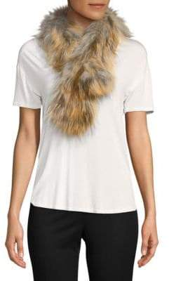 Adrienne Landau Plush Fox Fur Scarf