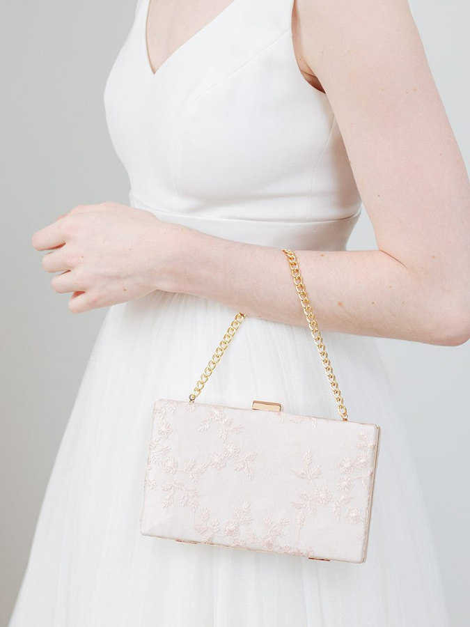 Etsy Blush Lace Clutch | Pale Pink Purse | Blush Bridal Clutch | Personalized wedding Purse | Monogram Cl