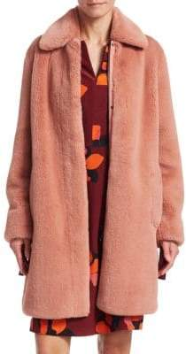 Akris Punto Faux Fur Cocoon Coat