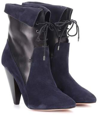 Veronica Beard Hawthorne Fine suede ankle boots