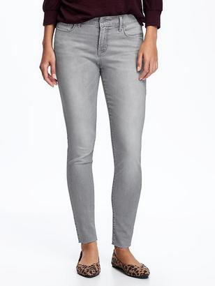 Mid-Rise Grey-Wash Raw-Hem Rockstar Jeans for Women $34.94 thestylecure.com