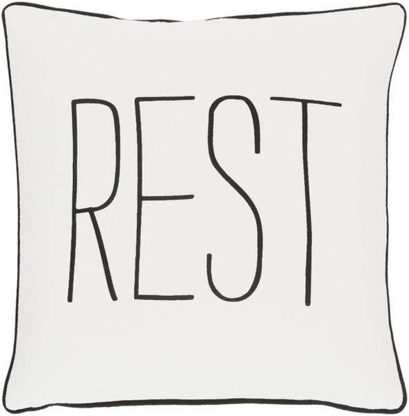 Rest Toss Pillow IVORY/BLACK