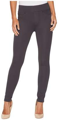 Liverpool Farrah Pull-On High Waist Ankle Leggings in Silky Soft Ponte Knit in Grey Armor Women's Jeans