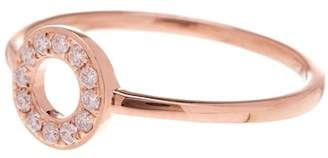 Bony Levy 18K Rose Gold Pave Diamond Open Circle Stackable Ring - 0.11 ctw