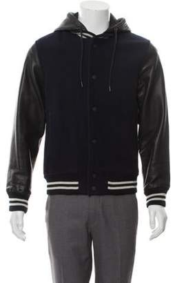 Marc by Marc Jacobs Hooded Varsity Jacket navy Hooded Varsity Jacket