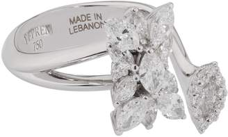 YEPREM White Gold and Diamond Fusion of Dreams Open Ring