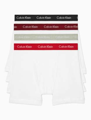 Calvin Klein cotton 4 pack holiday boxer brief