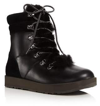 UGG Vicki Waterproof Leather & Sheepskin Boots