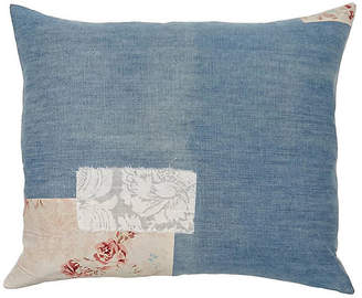 One Kings Lane Vintage Patchwork Floral Pillow