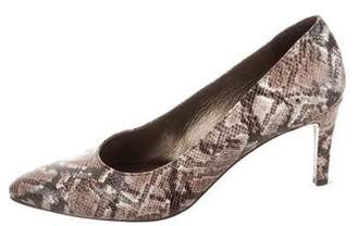 Stuart Weitzman Pointed-Toe Animal Print Pumps