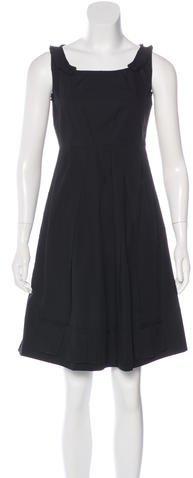 Miu MiuMiu Miu Pleated A-Line Dress