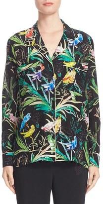 Women's N?21 Tropical Print Silk Pajama Blouse $555 thestylecure.com