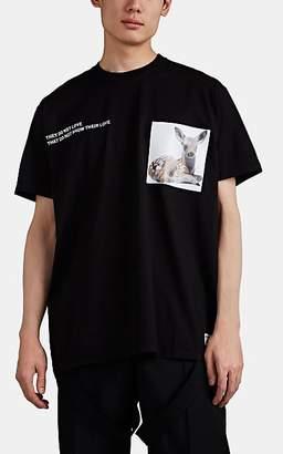 Burberry Men's Deer-Print Cotton T-Shirt - Black