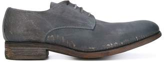 A Diciannoveventitre distressed Derby shoes