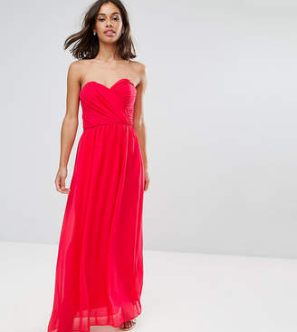 Asos WEDDING Chiffon Bandeau Maxi Dress