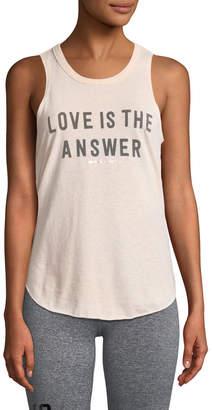Spiritual Gangster Love Is The Answer Draped-Back Studio Tank