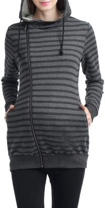 Kimi and Kai Salena Stripe Maternity Hoodie