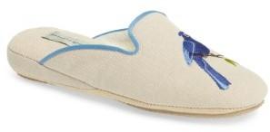 Women's Patricia Green Bluebird Embroidered Slipper