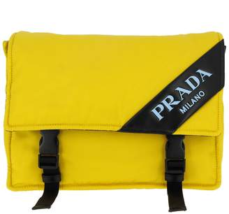 Prada Crossbody Bags Messenger Bag In Nylon With Maxi-patches In Leather