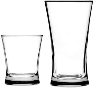 Anchor Hocking Linden 16 Piece Glass Assorted Glassware Set