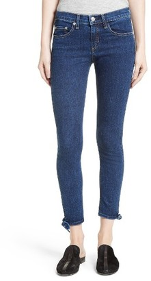 Women's Rag & Bone/jean Stevie Tie Hem Capri Skinny Jeans $225 thestylecure.com