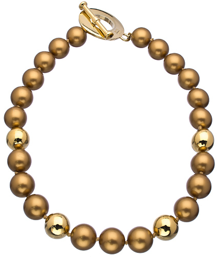 Carolee A Pearl Affair Gold Beaded Necklace