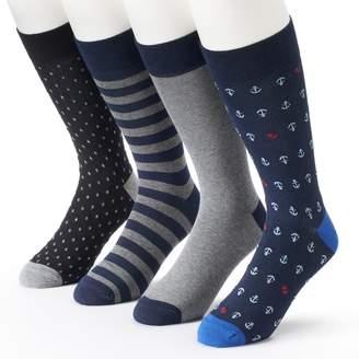 Men's Croft & Barrow 4-pack Anchor Dress Socks $14 thestylecure.com