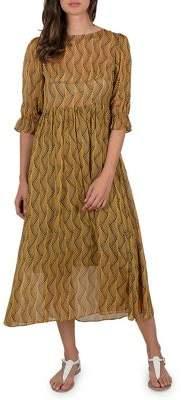 Molly Bracken Premium Printed Midi Dress