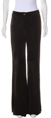 Valentino Suede High-Rise Pants