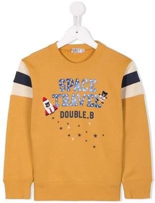 Mikihouse Miki House space print sweatshirt