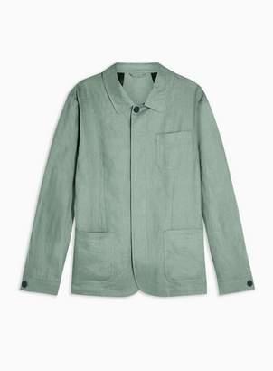 Selected Mens Green Slim 'Summer' Linen Blazer
