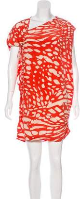 Thakoon Silk Animal Print Dress