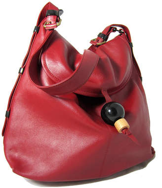 NV London Calcutta Large Leather Hobo Handbag With Adjustable Handle