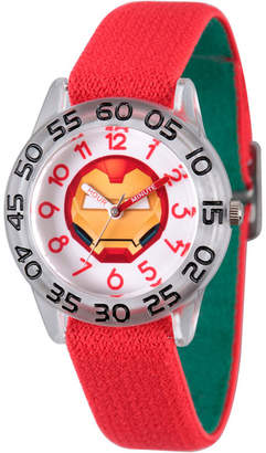 Marvel Emoji Boys Red Strap Watch-Wma000079
