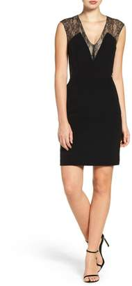 Aidan Mattox Crepe Sheath Dress