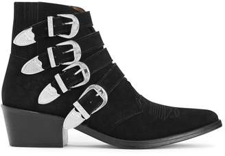 Toga Pulla Black Suede Ankle Boots