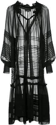 Lee Mathews Rosa georgette tie front dress