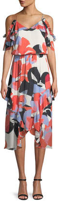 Parker Kam Abstract-Print Silk Dress