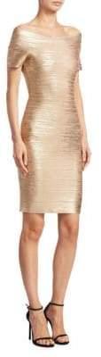 Herve Leger Carmen Foil Dress
