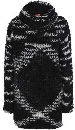 Marled Bouclé-Knit Turtleneck Sweater