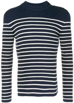 Saint Laurent striped buttoned jumper