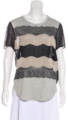 3.1 Phillip Lim Lace Trim T-shirt