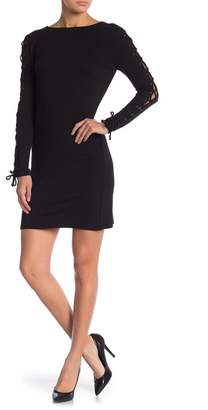 Cupcakes And Cashmere Lela Lace-Up Detail Fitted Dress