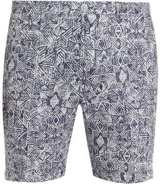120% Lino 120 LINO Aztec-print straight-leg shorts