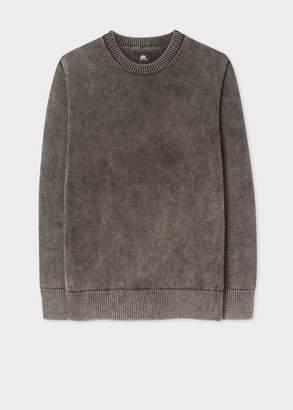 Paul Smith Men's Stone Grey Faded Red Ear Sweater