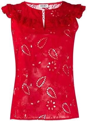 Liu Jo embroidered sleeveless top