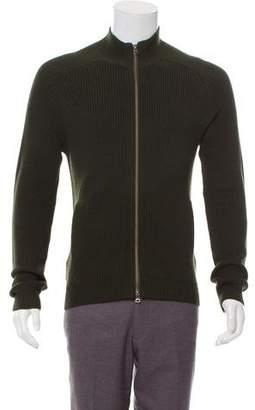 Theory Zip-Up Wool Sweater