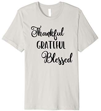 Thankful Grateful Blessed Christian Thanksgiving Fall Shirt