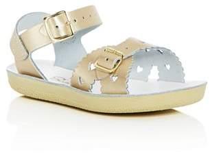 Salt Water Sandals Girls' Sweetheart Leather Sandals - Walker, Toddler, Little Kid