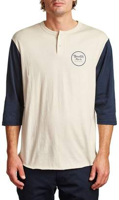 Brixton Wheeler Three-Quarter Sleeve Henley